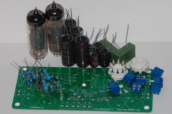 Схема усилителя на лампе 6Ф5П